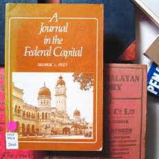A Journal in the Federal Capital- George L. Peet. The journal demonstrates the author's personal experience of Kuala Lumpur back in the 1930s. The author brought to this task a keen power of observation, a freshness of approach and a curiosity that only a newcomer from a foreign land could possess.