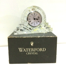 Waterford Large Silver rimmed cottage clock