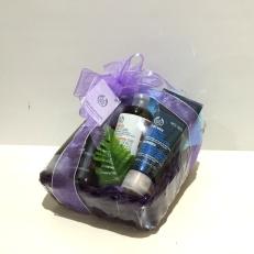 Body Shop basket of men's toiletries