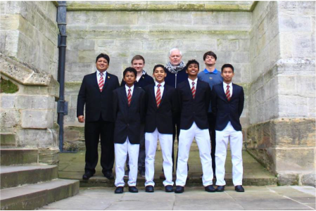 6-MCKK team at Eton Fives Chapel court