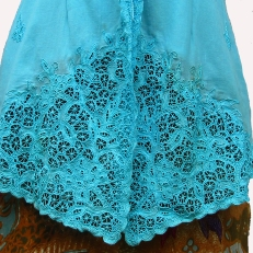 Blue Embroidered Kebaya